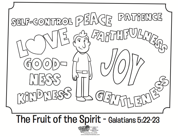 The Fruit Of The Spirit Coloring Page