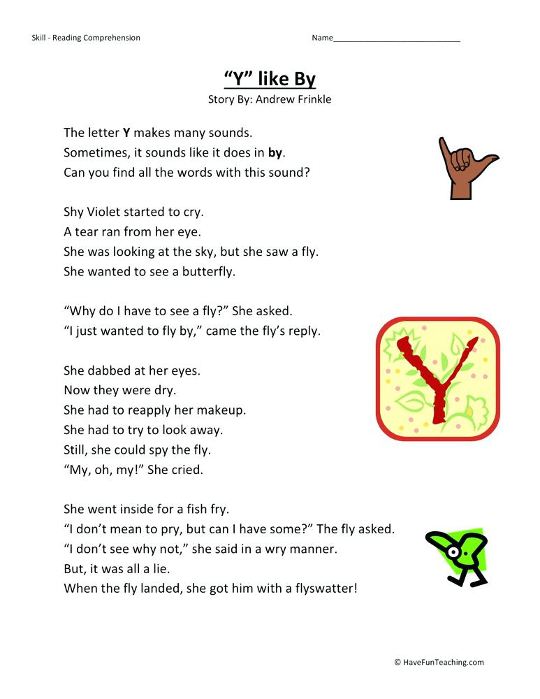 Second Grade Reading Comprehension Worksheets Be The First To