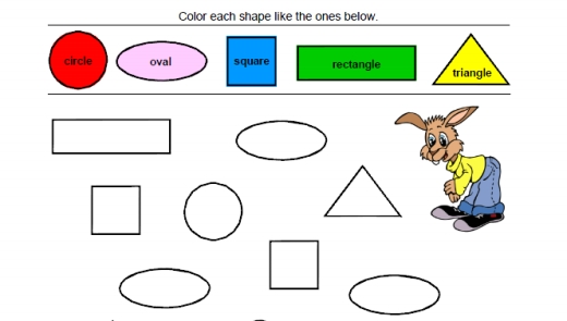 Shapes And Colors For Preschoolers