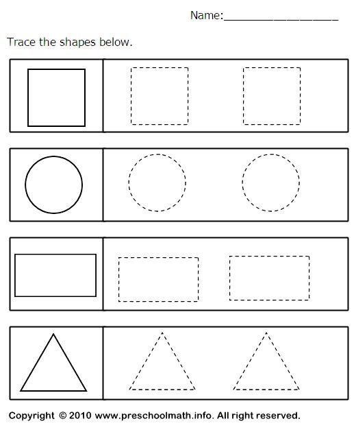Shapes Worksheet For Preschool Worksheets For All