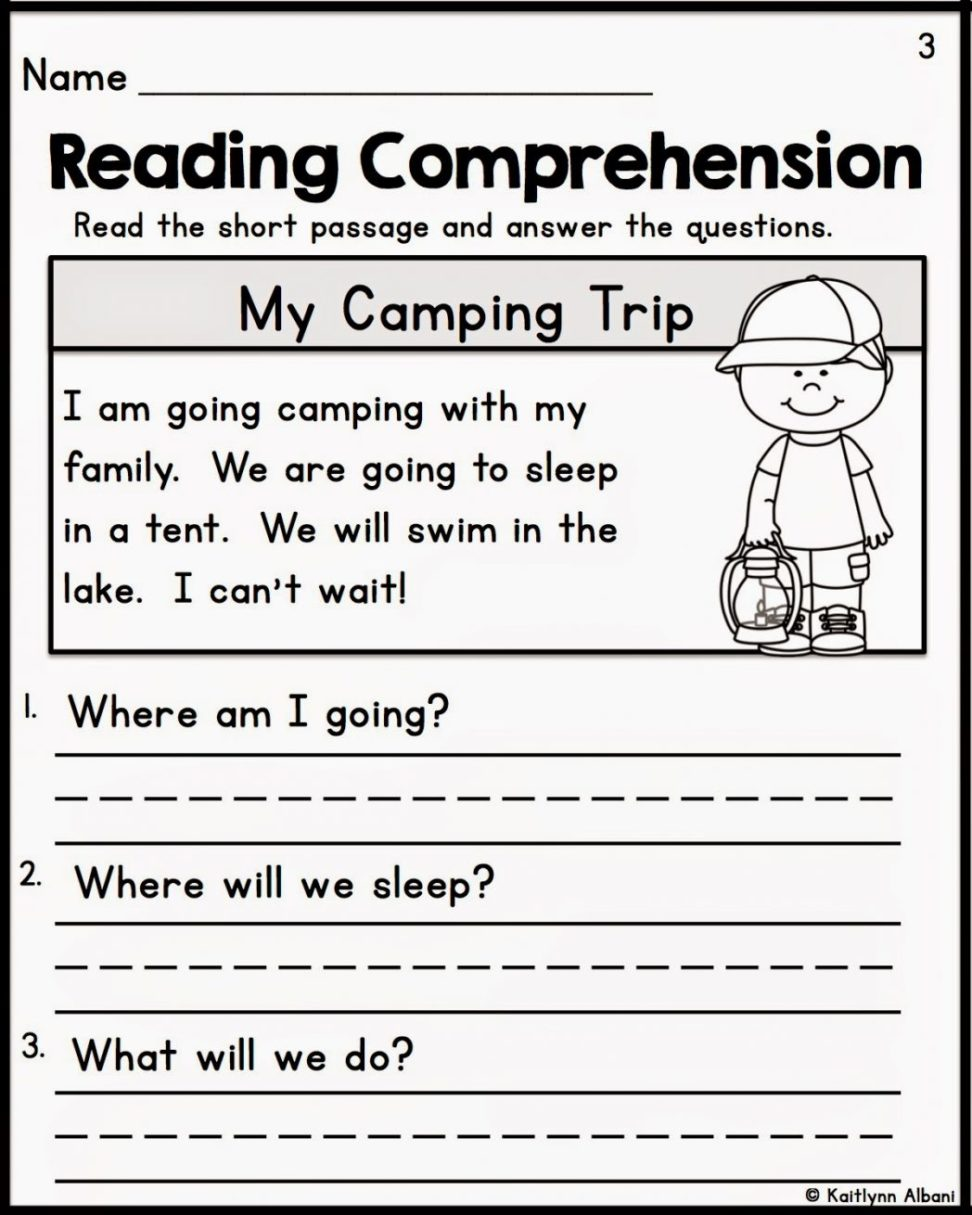 Simple Reading Comprehension Worksheets Free  544112