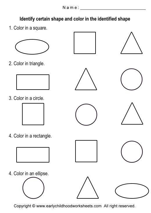 Simple Shapes Worksheet Worksheets For All