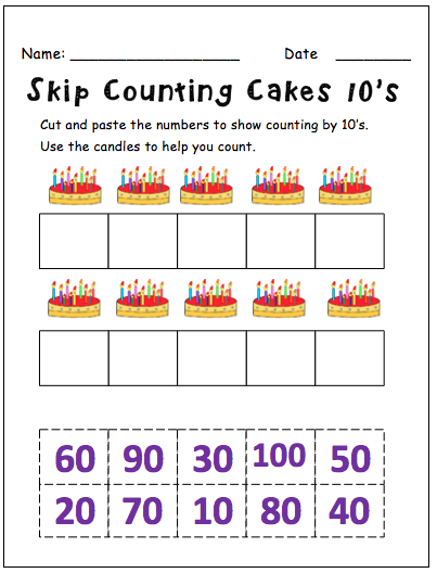Skip Counting By 10′s