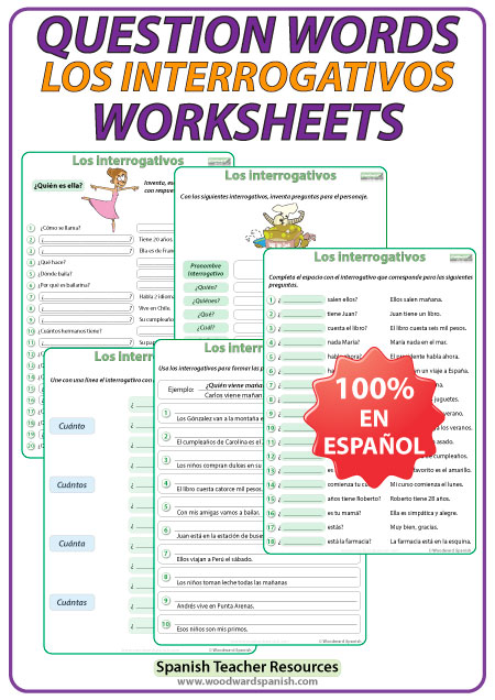 Spanish Question Words – Worksheets