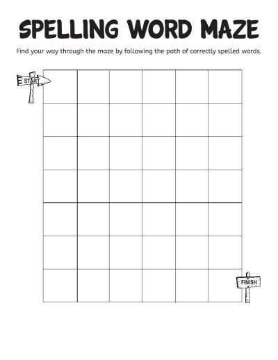 Spelling Word Maze