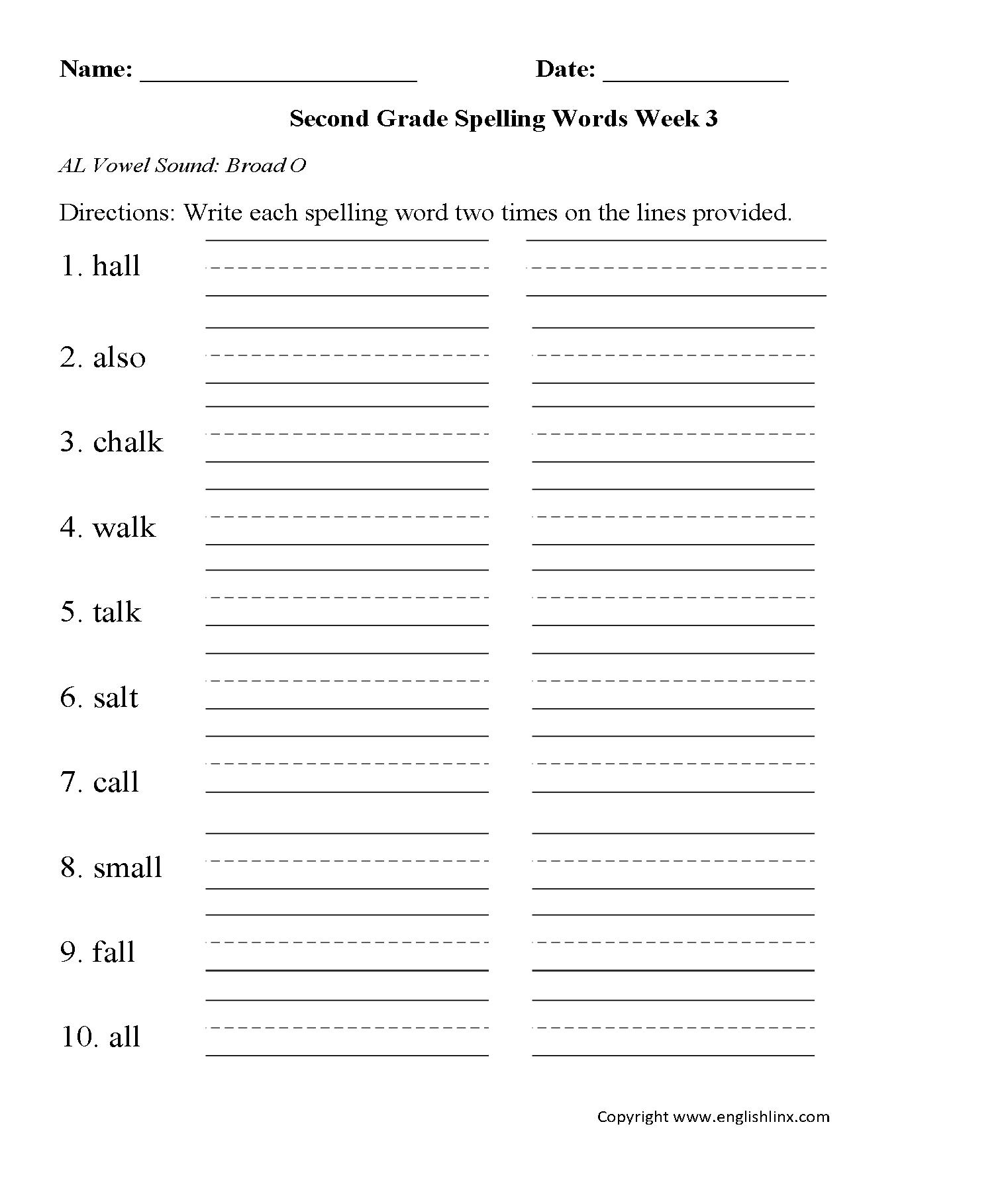 Spelling Worksheets 1323416