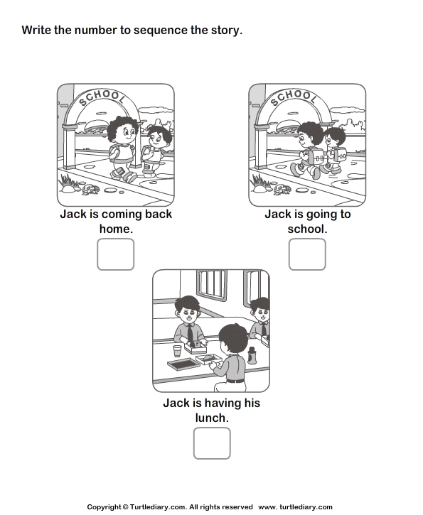 Story Sequencing Routine Of Jack Worksheet