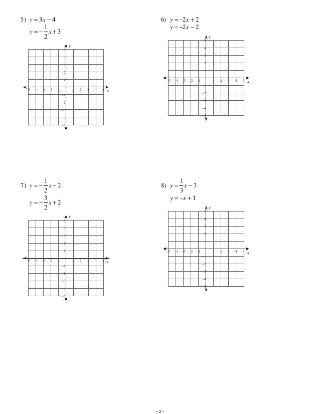 System Of Equations Graphing Worksheet The Best Worksheets Image