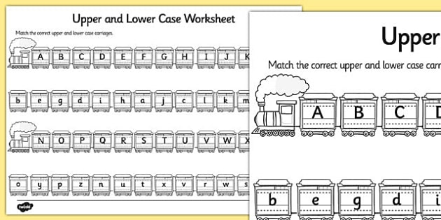 Upper Case And Lower Case Matching Worksheet