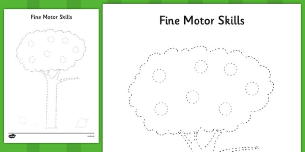 Tree Fine Motor Skills Worksheet   Activity Sheet Pack