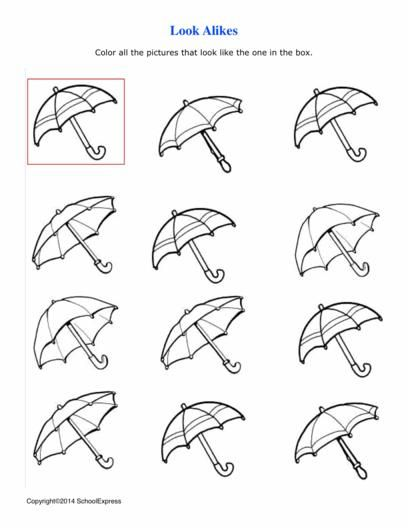 This Activity Uses Visual Perceptual Skills To Match The Different