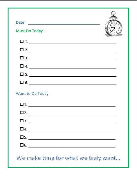 Time Management Worksheets For Kids