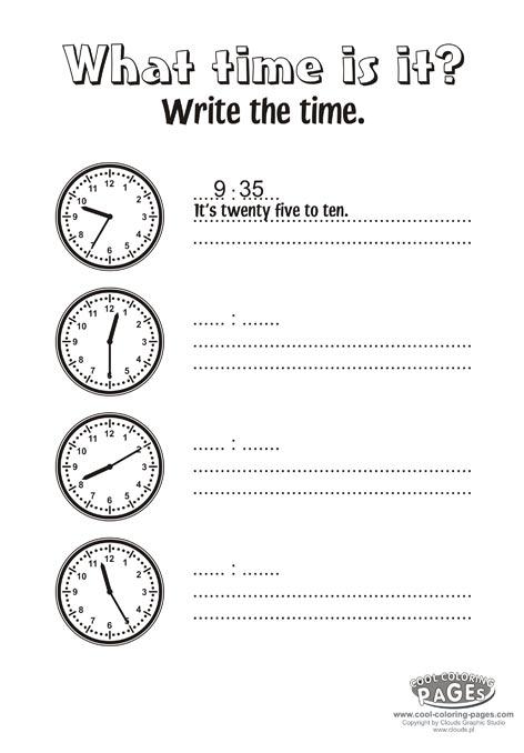 Time Management Worksheets For Kids The Best Worksheets Image