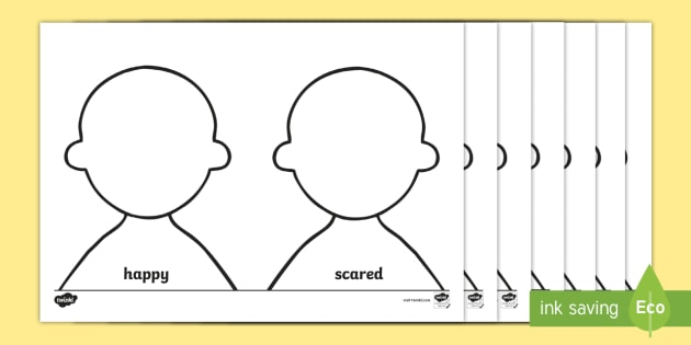 Toy Person Face Drawing Emotions Worksheet
