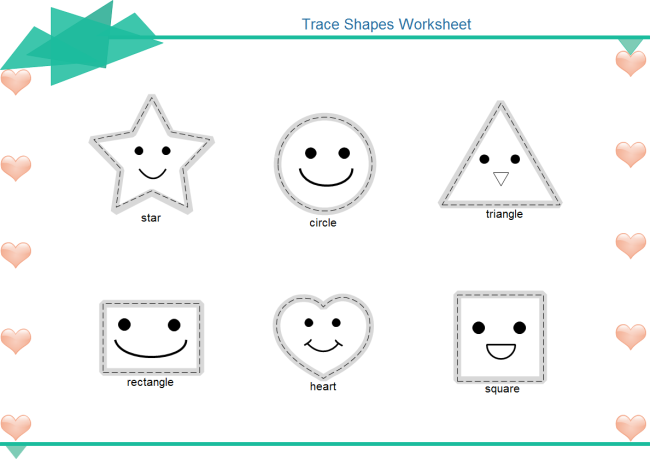 Trace Shapes Worksheet