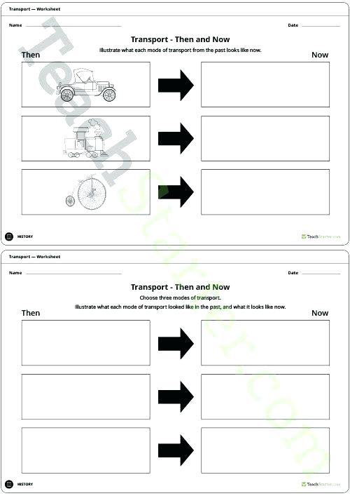 Transport Then And Now Lesson Plan Teach Starter Worksheet
