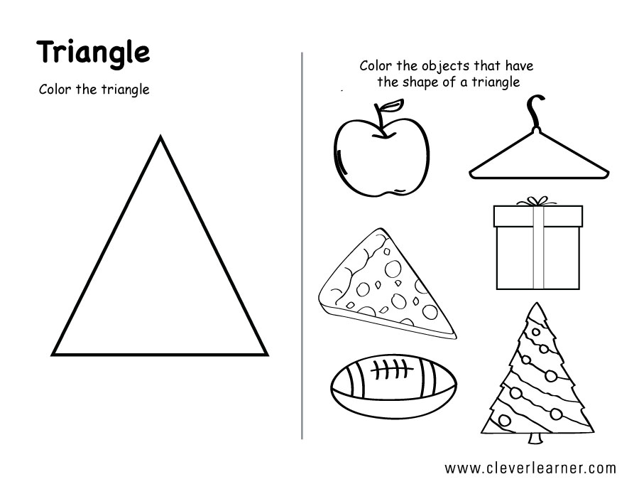 Triangle Worksheets For Pre K
