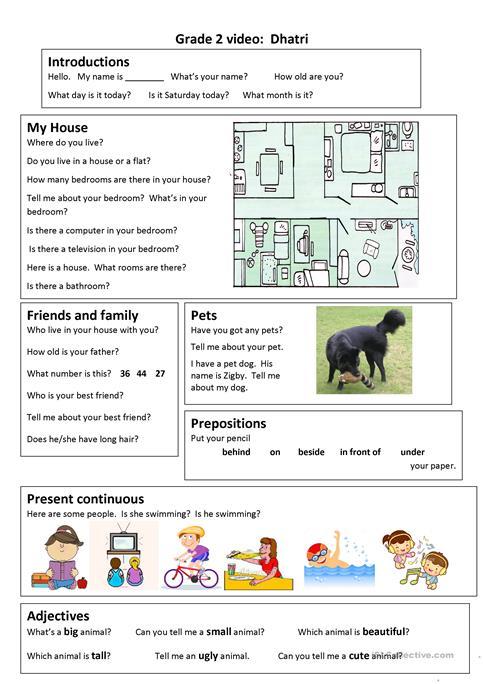 Trinity Gese Grade 2 Video Worksheet Worksheet