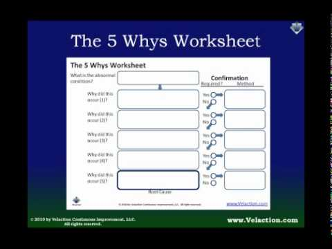 Using The 5 Whys Worksheet