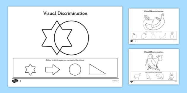 Visual Discrimination Worksheet   Activity Sheet Pack Find The