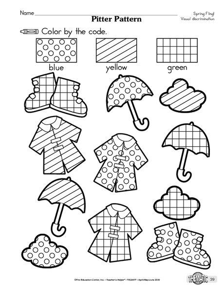 Visual Discrimination Worksheets For Kindergarten  800456