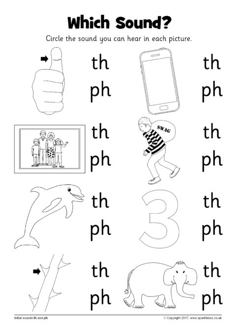 Which Sound  Worksheet – Th And Ph (sb12237)