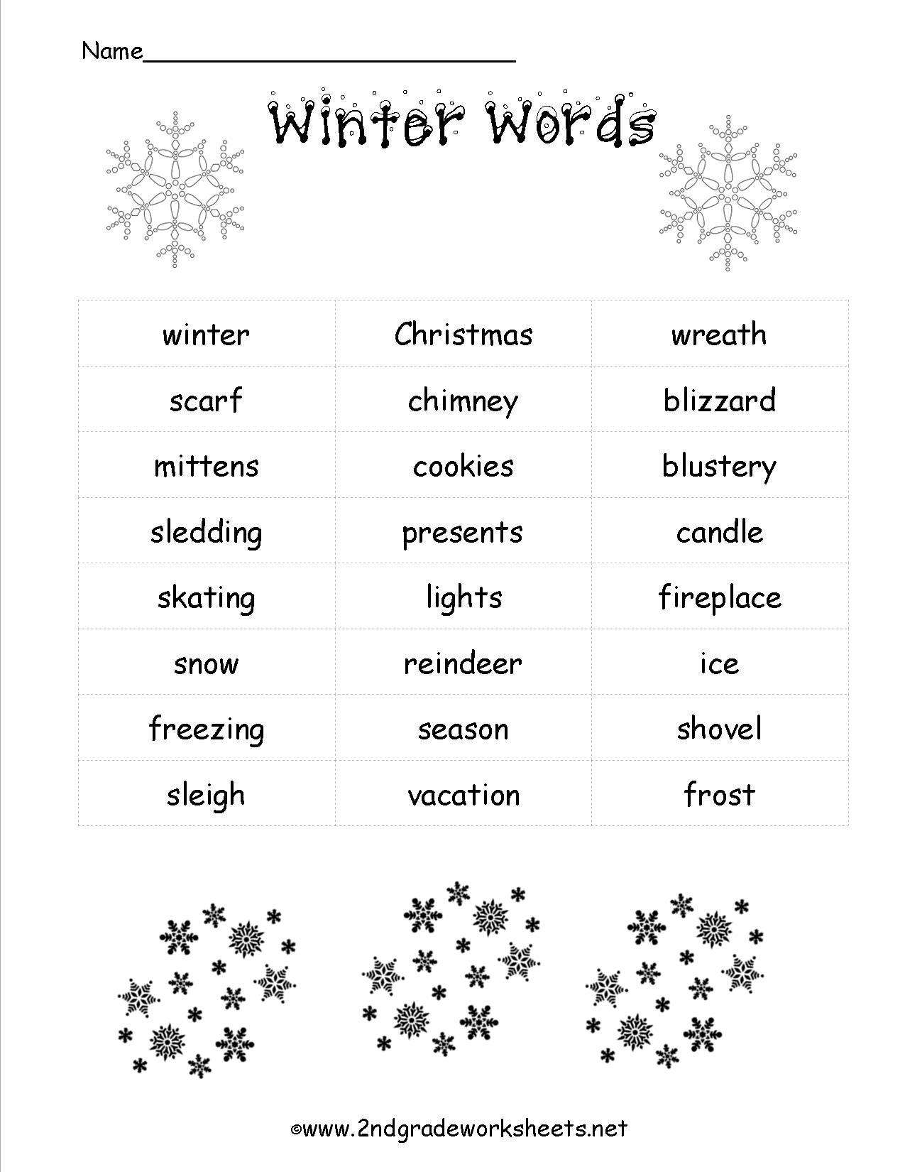 Winter Weather Worksheets For Kindergarten  20501
