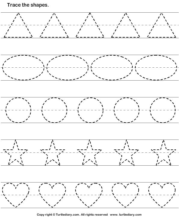 Worksheet For Kindergarten Tracing