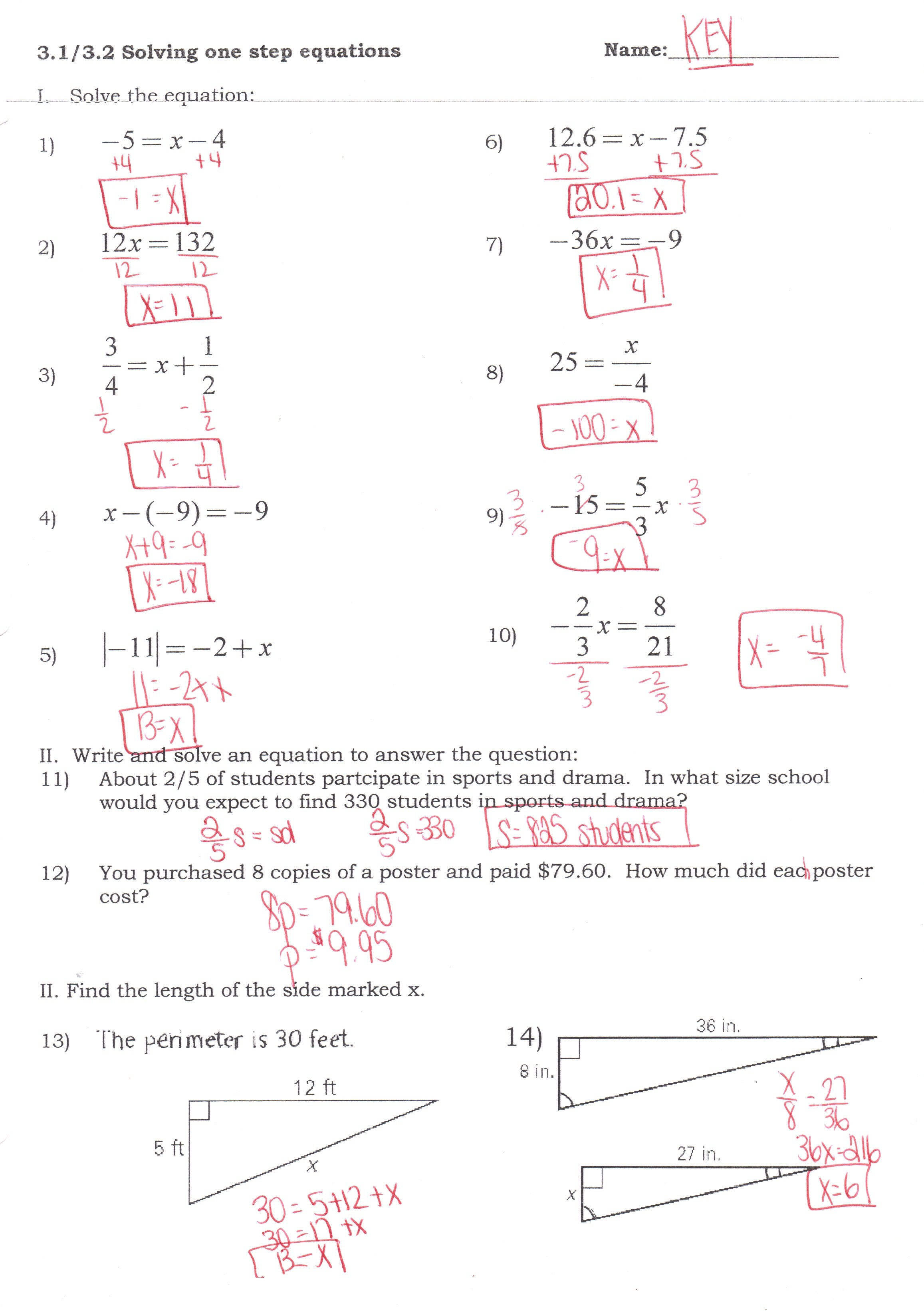 Worksheet Works_com Mixed Equations Answers  1439508