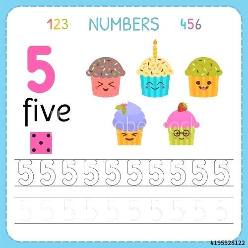 Worksheets  Kindergarten Number Tracing Worksheets 11 20 Numbers