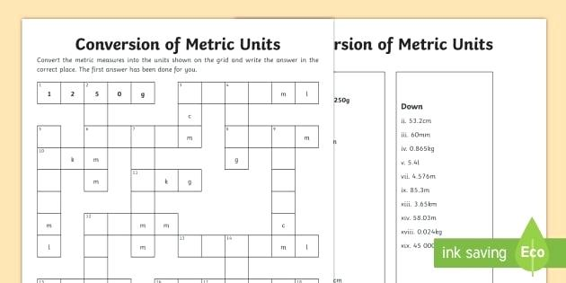 Worksheets  Measurement Conversion Worksheets 7th Grade Metric