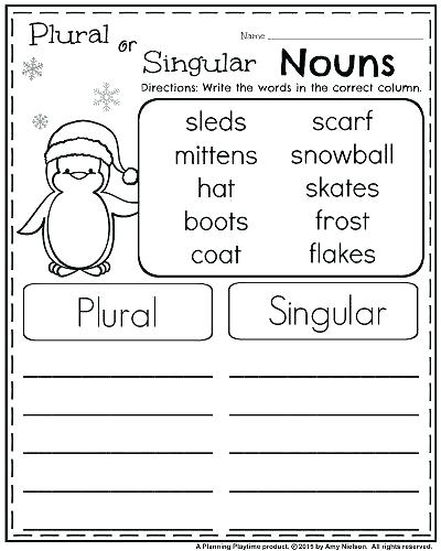 Worksheets  Singular And Plural Nouns Worksheets For 2nd Grade