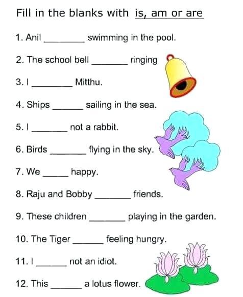 Worksheets For Grade 1 English Grammar – Cycconteudo Co