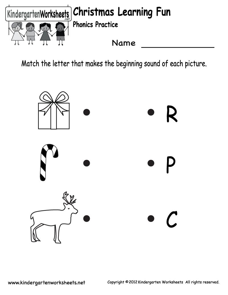 Worksheets Kindergarten Christmas 646034