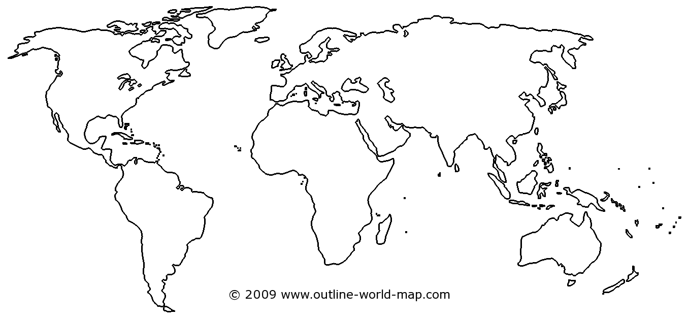 World Map Worksheet