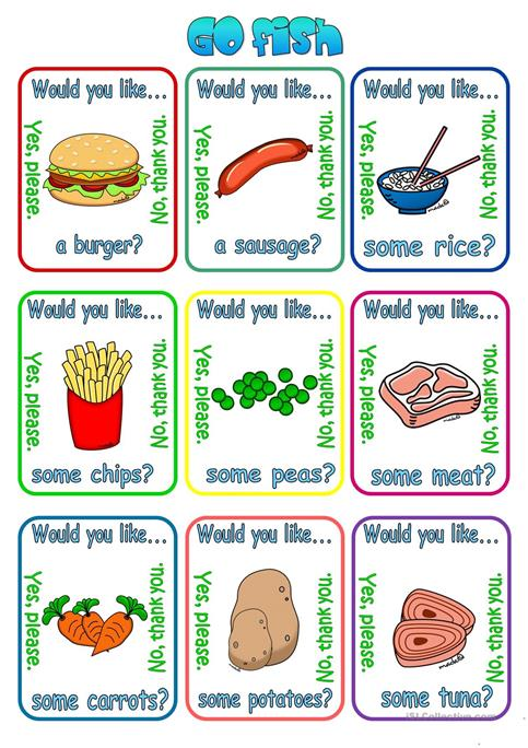 Would You Like A Some   + Food Worksheet
