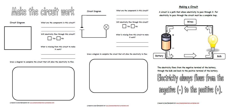 Year 6 Circuits Worksheet 157343