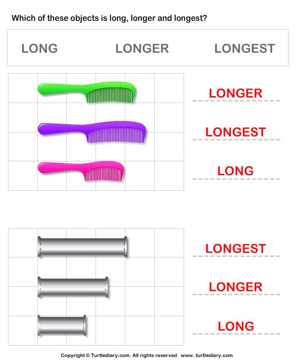 5 Free Measurement Worksheets Long, Longer, And Longest