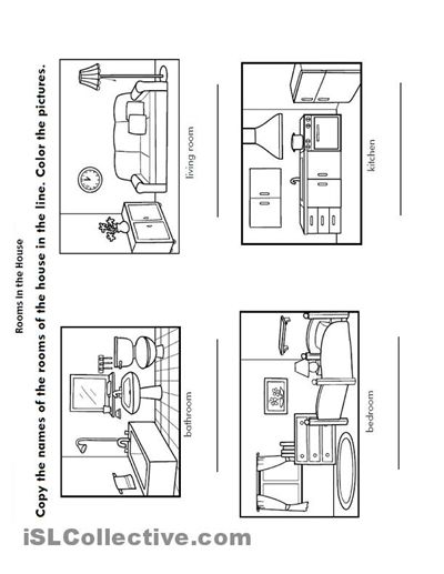 Free Rooms Of The House Coloring Pages