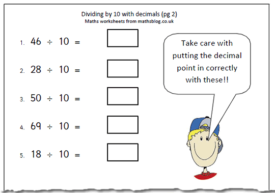 Free Worksheets Maths  Four Rules