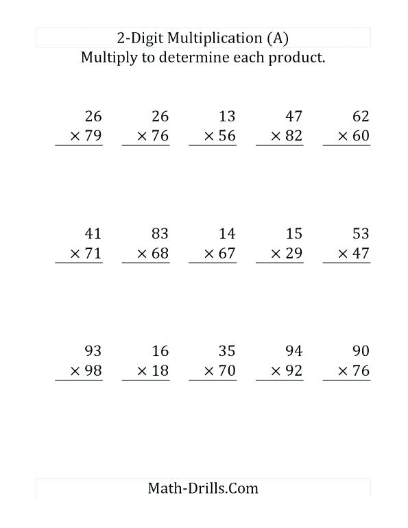 2 Digit By Multiplication Eets Two With Grid Other Size S Math