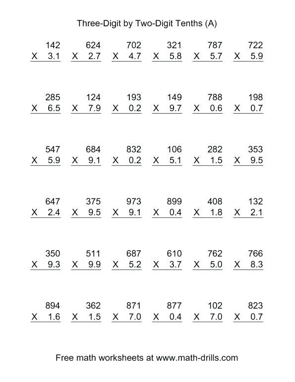 3 X 1 Multiplication Worksheets – Rainbowriches Co