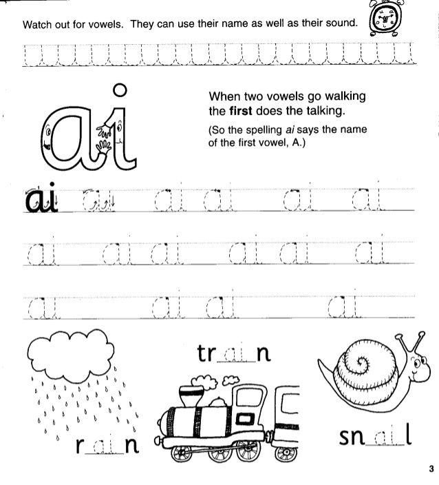 Jolly Phonics Workbook 4 (ai J