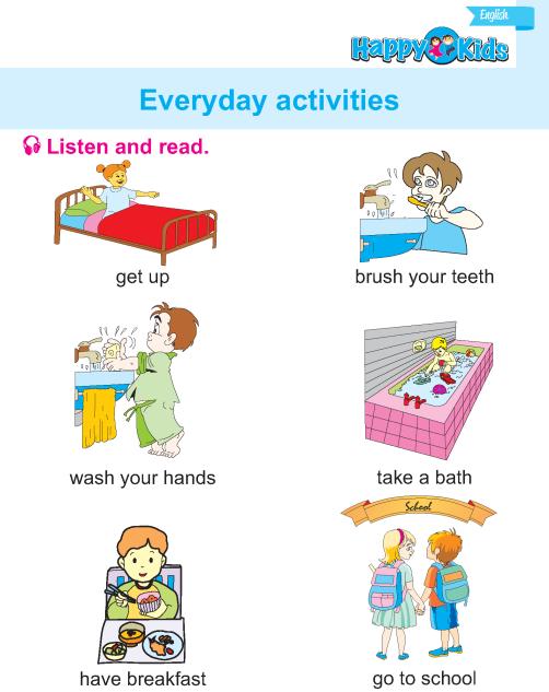 Lkg English Everyday Activities