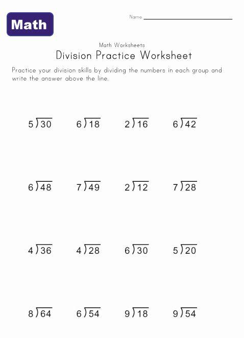 Simple Division Worksheet 4