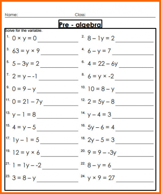 Grade 8 Worksheets Math