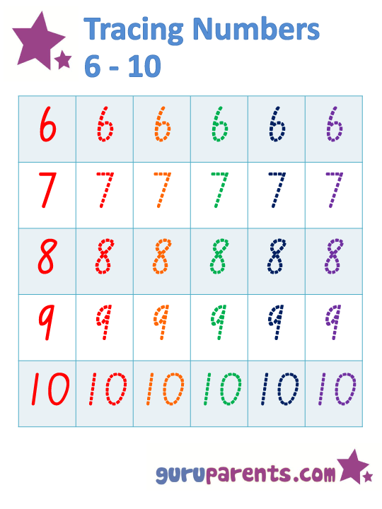 Tracing Numbers 6