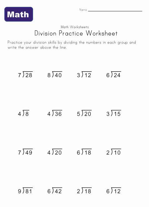 One Digit Division Worksheet 5