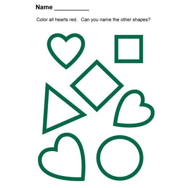 Preschool Lesson Plan On Heart Shapes  Songs, Books And Assessment
