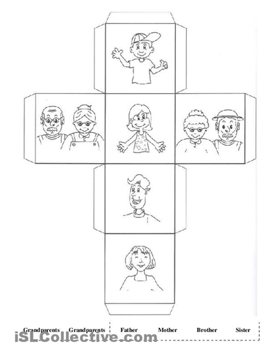 Kindergarten Worksheets My Family  2